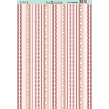 The Hobby House Sweet Blossom Stripe Paper