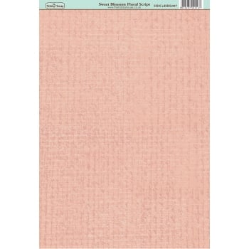The Hobby House Sweet Blossom Floral Script Paper