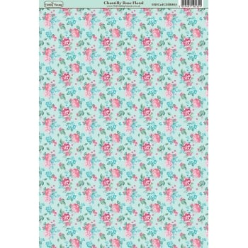 The Hobby House Chantilly Rose Floral Paper