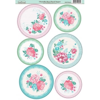 The Hobby House Chantilly Rose Floral Topper SLIGHT SECONDS