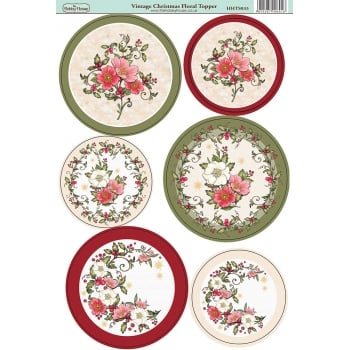 The Hobby House Vintage Christmas Floral Topper