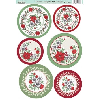 The Hobby House Christmas Holly Floral Topper
