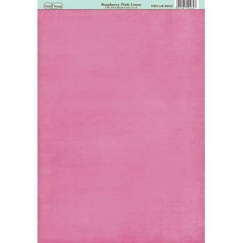 The Hobby House Classic Raspberry Pink Linen Paper