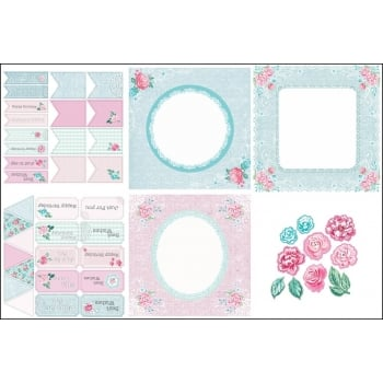 The Hobby House Chantilly Rose Decorative Panels and Die-cuts
