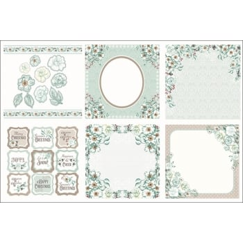 The Hobby House Winter Rose Decorative Panels and Die-cuts