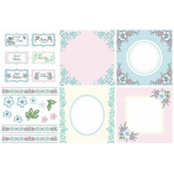 The Hobby House Hopeful Decorative Panels and Die-cuts