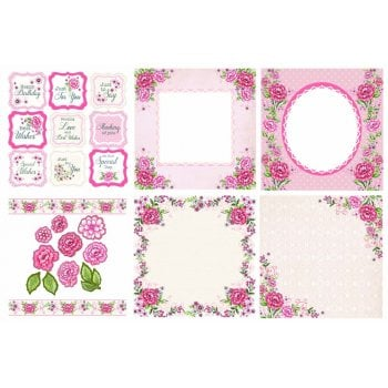 The Hobby House Rose Garden Decorative Panels and Die-cuts