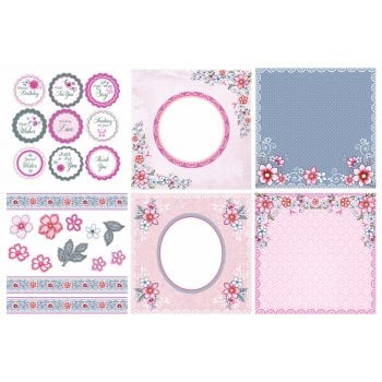 The Hobby House Summer Posy Decorative Panels and Die-cuts