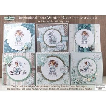 The Hobby House Wee Winter Rose Card Making Kit (UK Delivery Only)
