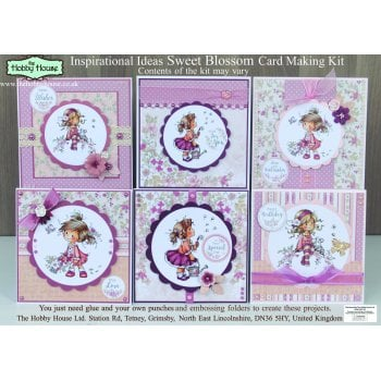 The Hobby House Wee Sweet Blossom Card Making Kit (UK Delivery Only)