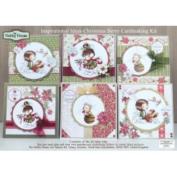 The Hobby House Berry Christmas Card Making Kit (UK Delivery Only)