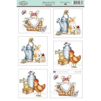 The Hobby House Daisy Mae Draws Card Toppers - Bunny Loves You