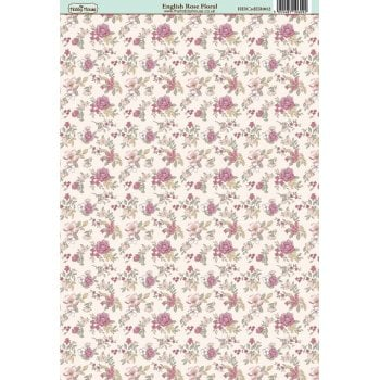 The Hobby House English Rose Floral Paper