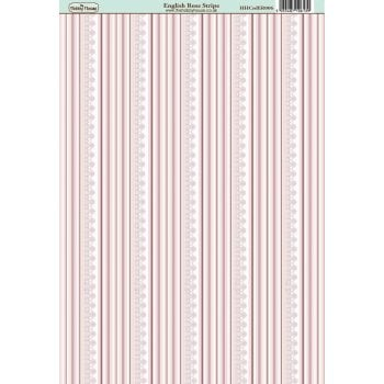 The Hobby House English Rose Stripe Paper