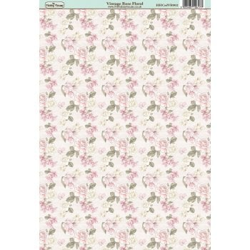 The Hobby House Vintage Rose Floral Paper