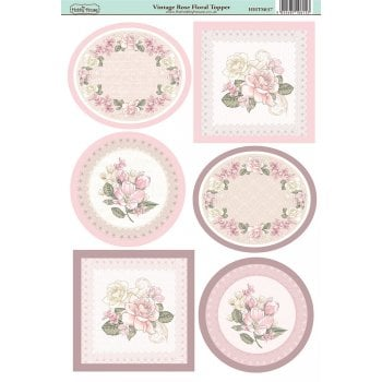 The Hobby House Vintage Rose Floral Topper
