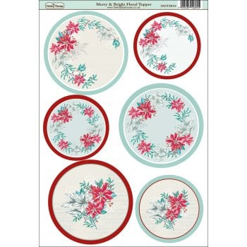 The Hobby House Merry and Bright Floral Topper SLIGHT SECONDS