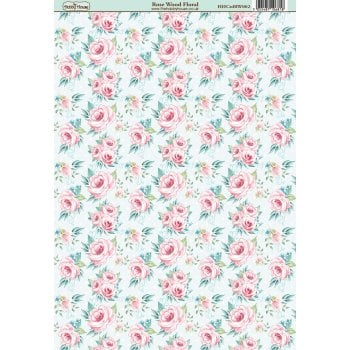 The Hobby House Rose Wood Floral Paper