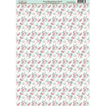 The Hobby House Rose Wood Ditsy Floral Paper