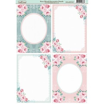 The Hobby House Rose Wood A6 Decorative Panels