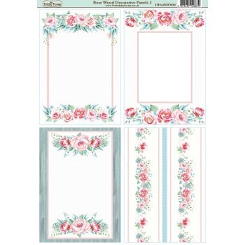 The Hobby House Rose Wood A6 Decorative Panels 2