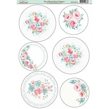 The Hobby House Rose Wood Floral Topper SLIGHT SECONDS