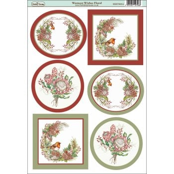 The Hobby House Warmest Wishes Floral Topper