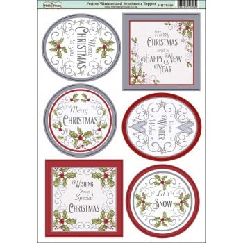 The Hobby House Festive Wonderland Sentiment Topper