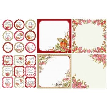 The Hobby House Autumn Blessings Decorative Panels and Die-cuts