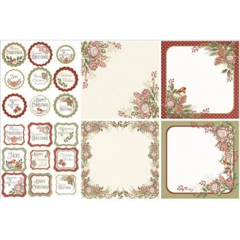 The Hobby House Warmest Wishes Decorative Panels and Die-cuts