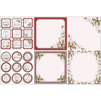 The Hobby House Festive Wonderland Decorative Panels and Die-cuts