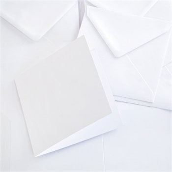 148mm Square Super Smooth Card and Envelopes Pack of 40 (UK DELIVERY ONLY)