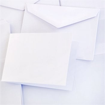The Hobby House 5x7 inch Tent Fold Super Smooth Card and Envelopes Pack of 40 (UK DELIVERY ONLY)