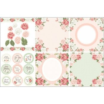 The Hobby House Peony Bouquet Decorative Panels and Die-cuts