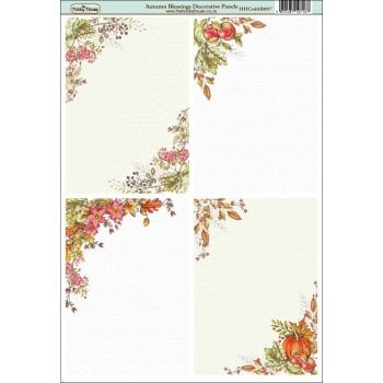 The Hobby House Autumn Blessings A6 Decorative Panels
