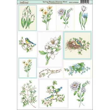 The Hobby House Spring Blooms Paper Element Sheet