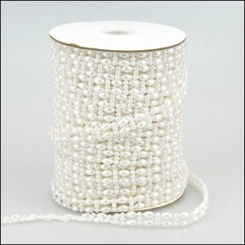 The Hobby House Pearl Strings - Double Bead - 2 metres