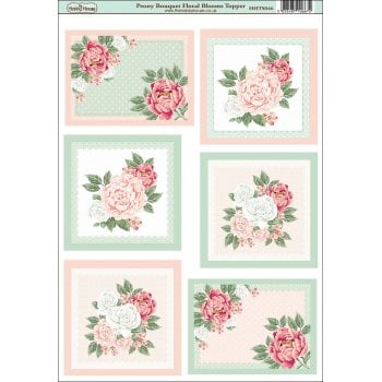 The Hobby House Peony Bouquet Floral Blooms Topper