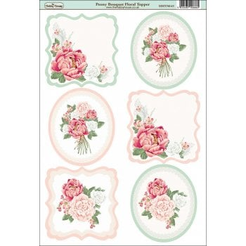 The Hobby House Peony Bouquet Floral Topper