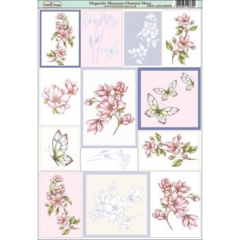 The Hobby House Magnolia Blossoms Element Sheet
