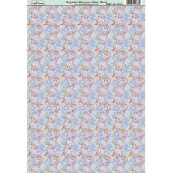 The Hobby House Magnolia Blossom Ditsy Floral Paper