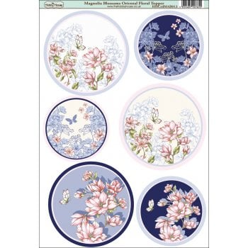 Magnolia Blossoms Oriental Floral Topper SLIGHT SECONDS