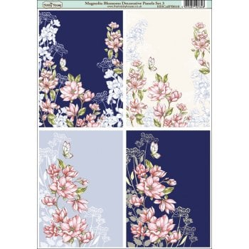 Magnolia Blossoms Decorative Panel Set 3
