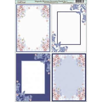 The Hobby House Magnolia Blossoms Decorative Panel Set 2