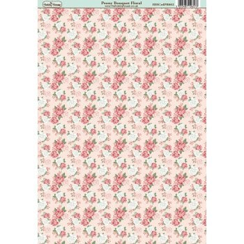 The Hobby House Peony Bouquet Floral Paper