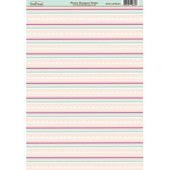 The Hobby House Peony Bouquet Stripe Paper