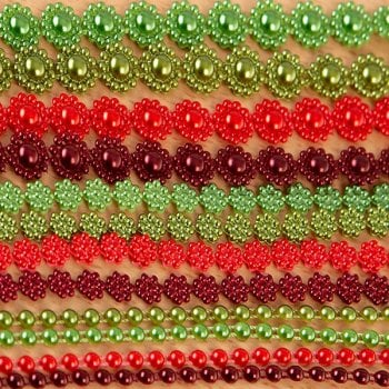 The Hobby House Christmas Coloured Pearl Strings Collection