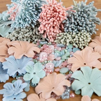 The Hobby House Mint Blue Embellishment Collection