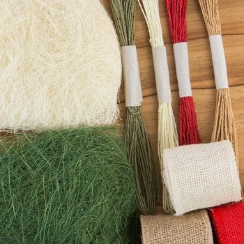 The Hobby House Sisal, Burlap and Twine Set