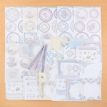 The Hobby House Blossom Decorative Panel Collection plus 6 FREE Topper Sheets and Ribbon